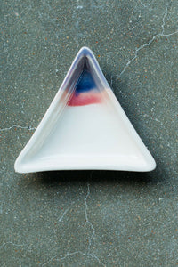 Sunset Triangle Ceramic Dish