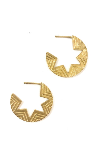 Brass Pia Earrings