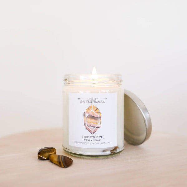 Tigers Eye Crystal Soy Candle