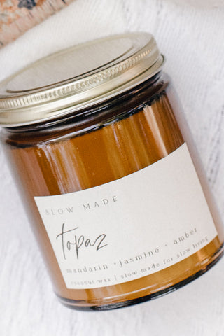 Topaz Coconut Wax Candle