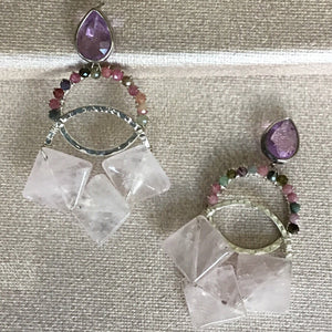 Blush Pink Drop Earrings