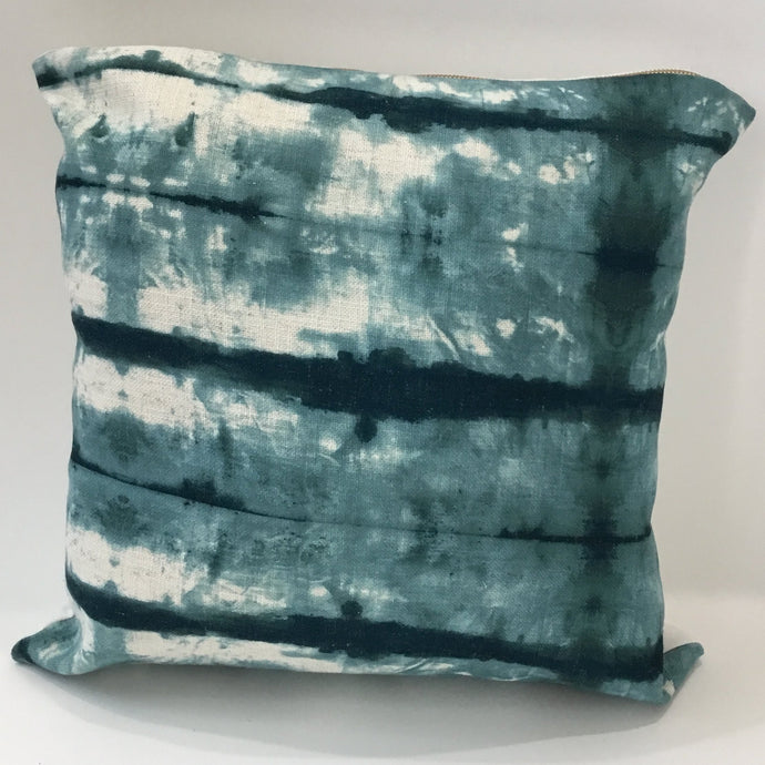 Teal and Tie Dyed Pillow