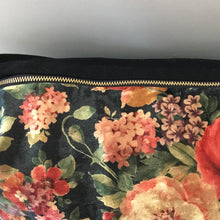 Dramatic floral pillow