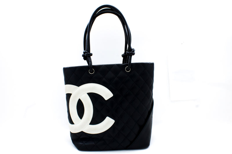 Chanel Black Quilted Calfskin Small Cambon Ligne Tote (SHB-10306)