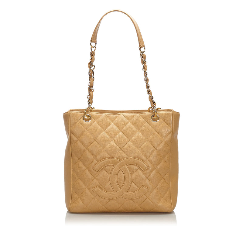 Pre-Loved Chanel Brown Caviar Petite Shopping Tote Italy