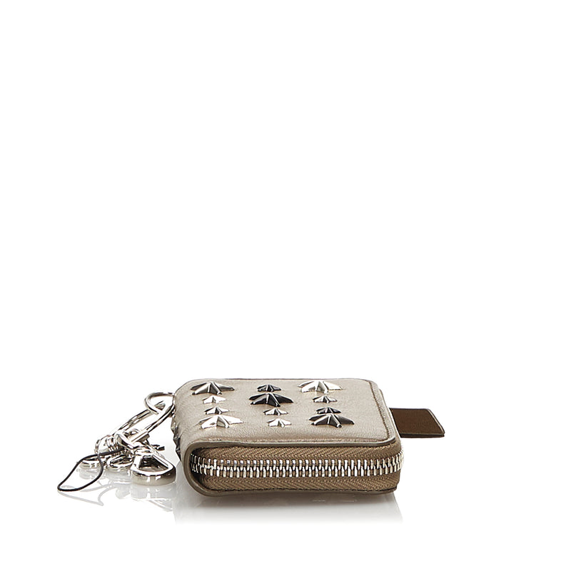 Pre-Loved Jimmy Choo Brown Others Leather Embellished Wallet United Kingdom