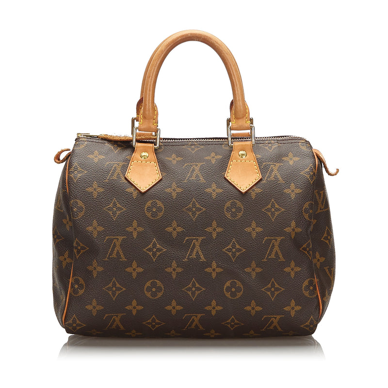 Pre-Loved Louis Vuitton Brown Monogram Canvas Speedy 25 France
