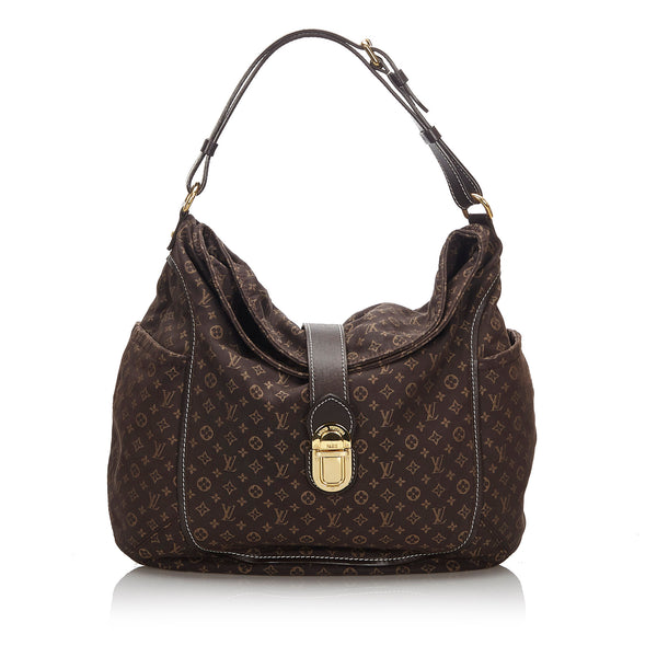 Pre-Loved Louis Vuitton Brown Cotton Fabric Mini Lin Romance Hobo Bag France