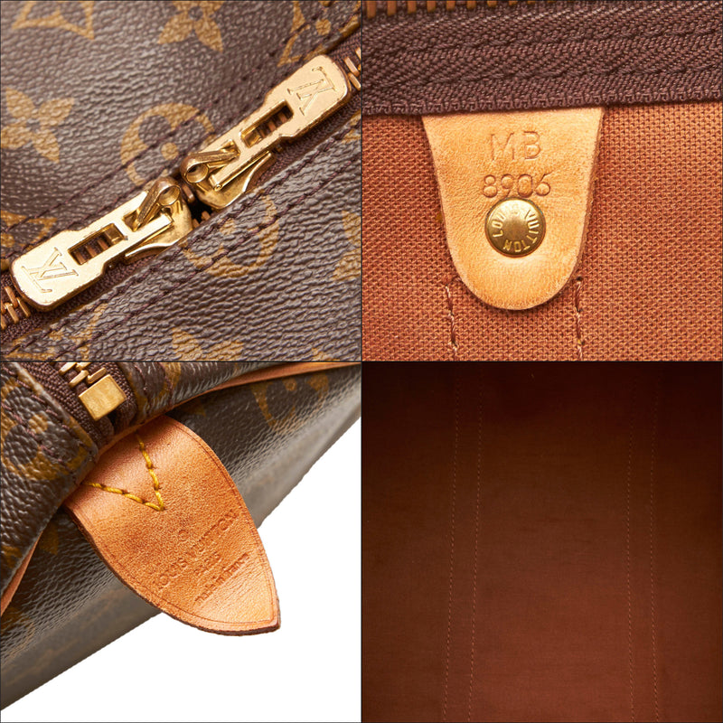 Pre-Loved Louis Vuitton Brown Monogram Canvas Keepall 50 France