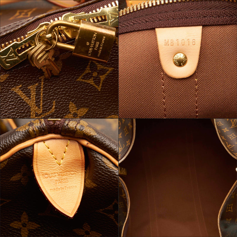 Pre-Loved Louis Vuitton Brown Monogram Canvas Keepall 60 France
