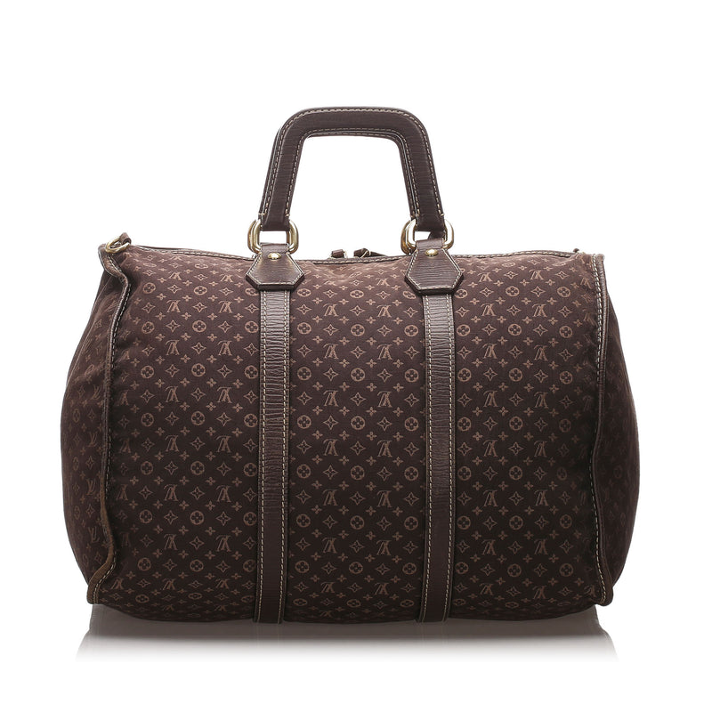 Pre-Loved Louis Vuitton Brown Monogram Mini Lin Initiales Keepall 45 France