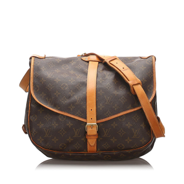 Pre-Loved Louis Vuitton Brown Monogram Canvas Saumur 35 France
