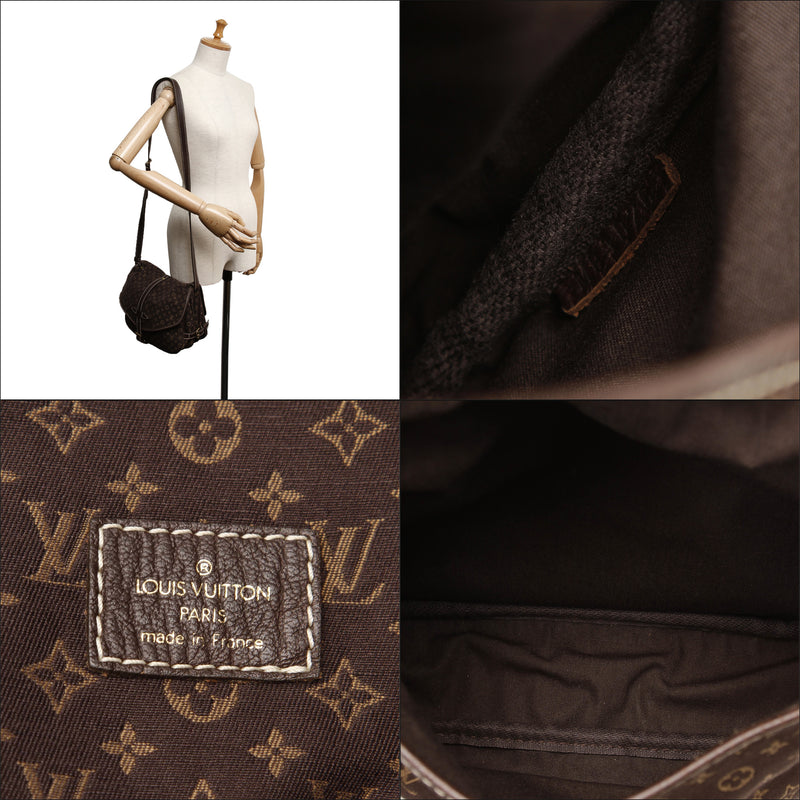Pre-Loved Louis Vuitton Brown Monogram Mini Lin Saumur France