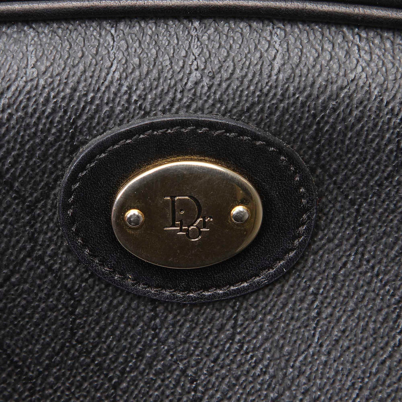Pre-Loved Dior Black Calf Leather Honeycomb Crossbody Bag France
