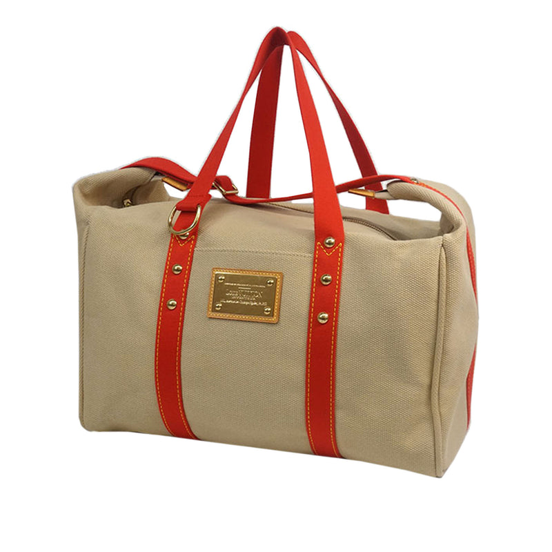 Pre-Loved Louis Vuitton Brown Beige Canvas Fabric Antigua Sac Weekend France