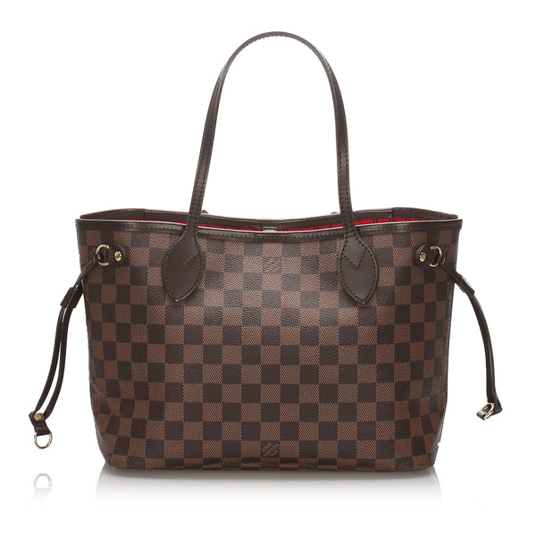 Pre-Loved Louis Vuitton Brown Damier Ebene Neverfull PM France