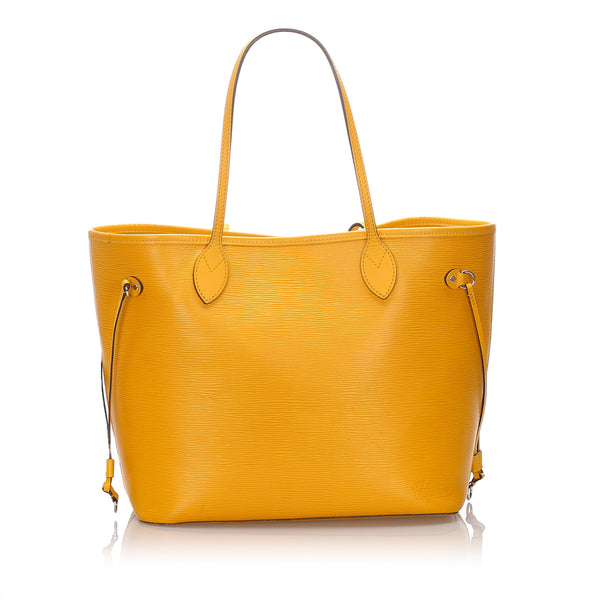 Pre-Loved Louis Vuitton Yellow Epi Leather Neverfull MM Spain