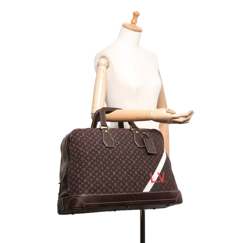 Pre-Loved Louis Vuitton Monogram Mini Lin Initiales Isfahan Travel Bag