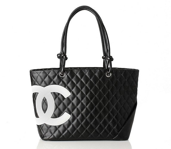 Chanel Cambon Leather Handbag (Authentic Pre Owned)