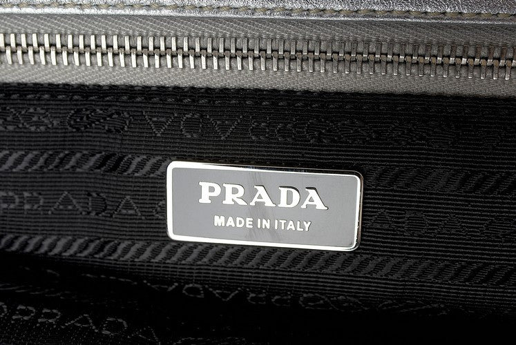 Prada Gauffre Leather Handbag (Authentic Pre Owned)