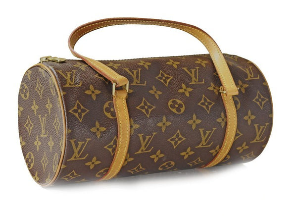 Louis Vuitton Monogram Papillon Leather Handbag (Authentic Pre Owned)
