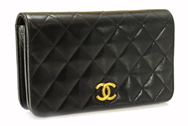 Chanel Lambskin Classic Flap Leather Handbag (Authentic Pre Owned)