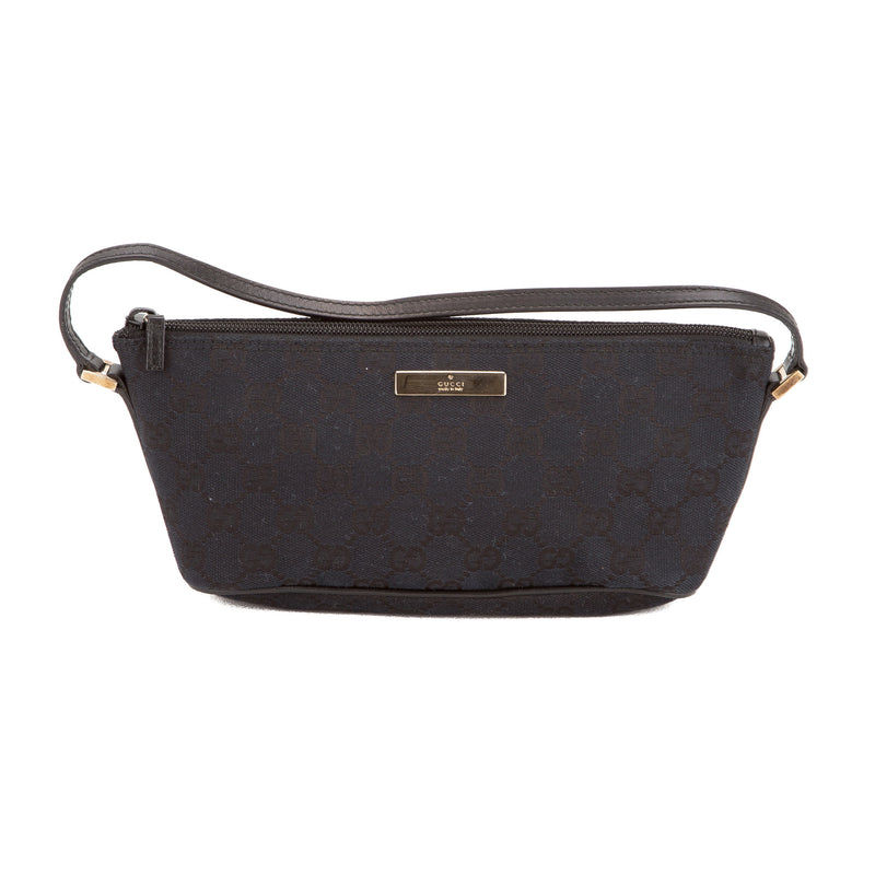Gucci Navy Monogram Pochette (Authentic Pre Owned)