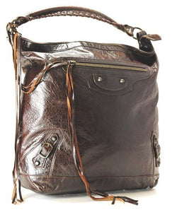 Balenciaga Day Brown Leather Handbag (Authentic Pre Owned)