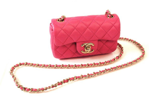 Chanel Pink Sling Leather Handbag (Authentic Pre Owned)