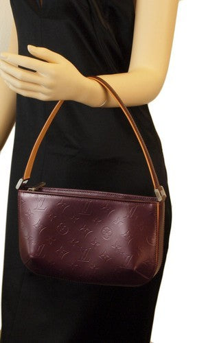 Louis Vuitton Burgundy Fowler Handbag (Authentic Pre Owned)