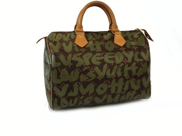 Louis Vuitton Graffiti Speedy 30 Handbag (Authentic Pre Owned)