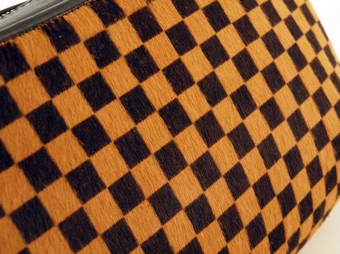 Louis Vuitton Damier Sauvage Calf Hair Tigre Leather Handbag (Authentic Pre Owned)