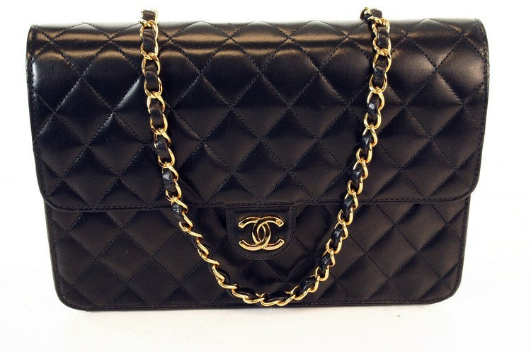 Chanel Black Matorasse Chain Flap Leather Handbag (Authentic Pre Owned)