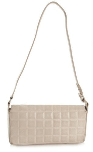 Chanel White CC Pochette Handbag (Authentic Pre Owned)
