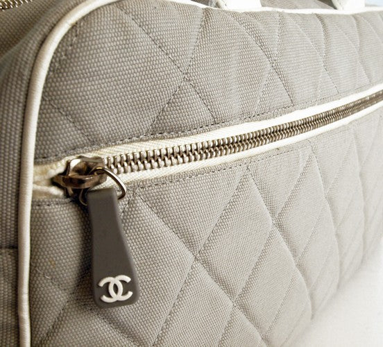 Chanel Signature Bowling Tote Handbag (Authentic Pre Owned)