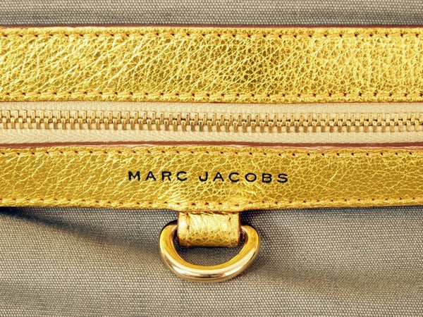 Marc Jacobs Gold Stam Leather Handbag (Authentic Pre Owned)