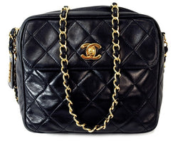 Chanel Quilted Lambskin Shoulder Leather Handbag (Authentic Pre Owned)