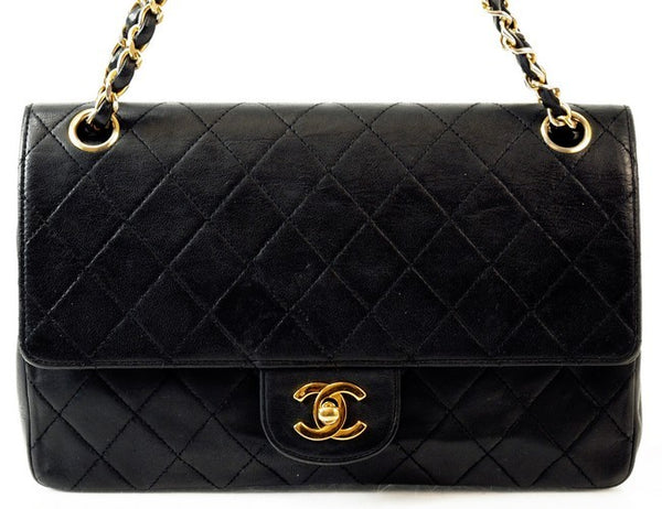 Chanel Quilted Lambskin Double Flap 2.55 Leather Handbag (Authentic Pre Owned)