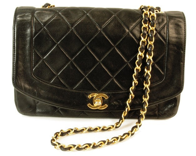 Chanel Single Chain Lambskin Leather Handbag (Authentic Pre Owned)