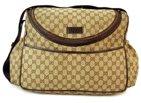 Gucci Diaper Leather Handbag (Authentic Pre Owned)