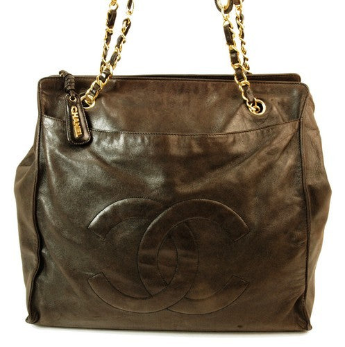 Chanel Large Brown Leather Handbag (Authentic Pre Owned)