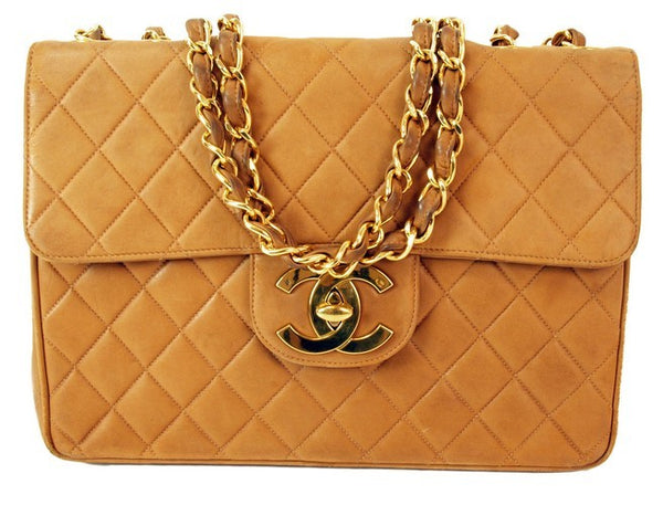 Chanel 2.55 Camel Leather Handbag (Authentic Pre Owned)
