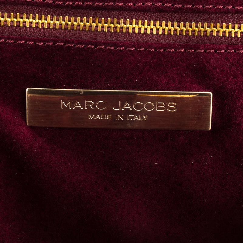 Marc Jacobs Gold Baby Stam Leather Handbag (100623)