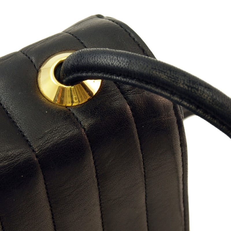 Chanel Black Lambskin Shoulder Leather Handbag (Authentic Pre Owned)