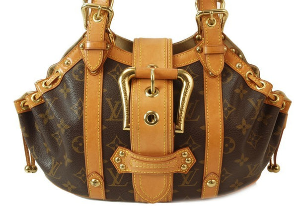 Louis Vuitton Theda Leather Handbag (Authentic Pre Owned)