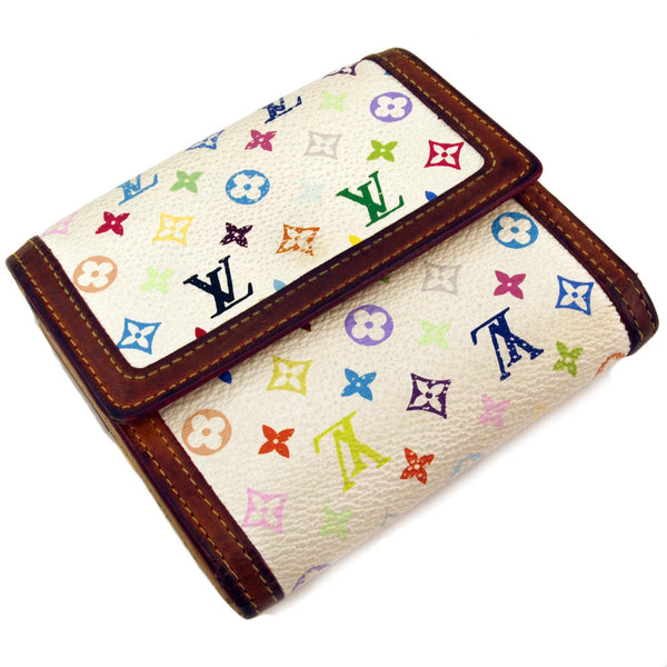 Louis Vuitton White Short Multicolored Wallet (Authentic Pre Owned)