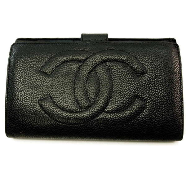 Chanel Black Long Wallet (Authentic Pre Owned)