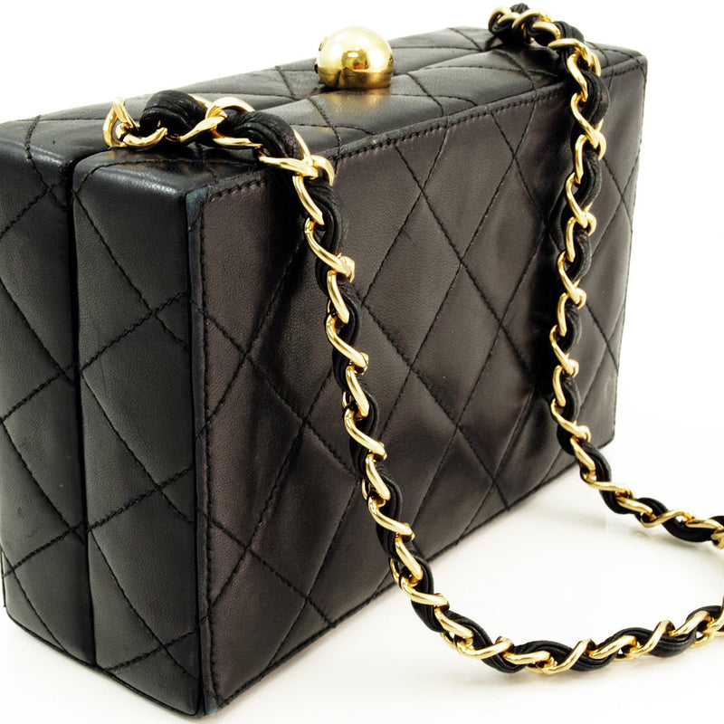 Chanel Lamb Box Evening Leather Handbag (Authentic Pre Owned)