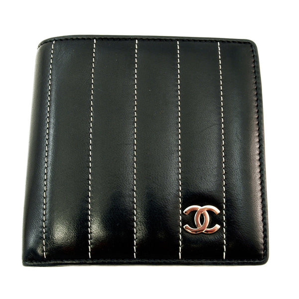 Chanel Black Lamb Wallet (Authentic Pre Owned)