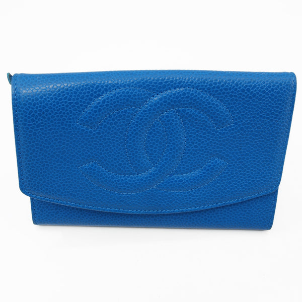 Chanel Blue Caviar Coin Wallet (Authentic Pre Owned)